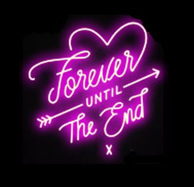 Custom Made Forever Until The End Neon Sign
