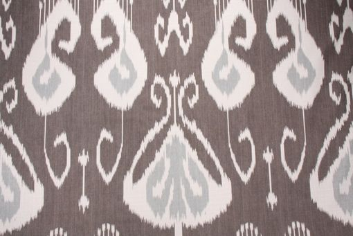 "Custom Made Kravet Bansuri Lanpung Ikat In Ironwood Gray Grey Linen 90""L X 50""W Draperies"
