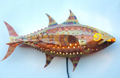 Custom Made Copper Albacore Tuna Sconce