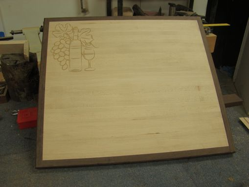 Custom Made Cutting Board To Fit Over Your Ceramic Cooktop - Personalized Engraving Available