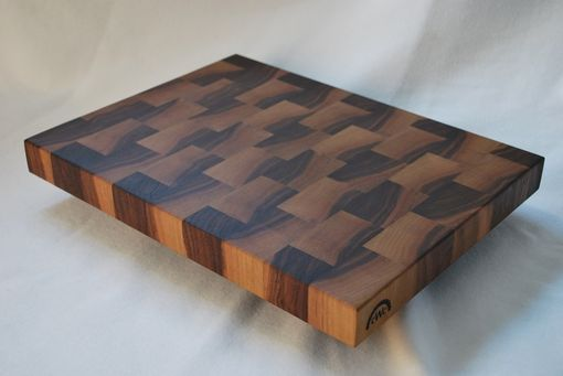 Hand Crafted Solid Walnut End Grain Butcher Block Cutting