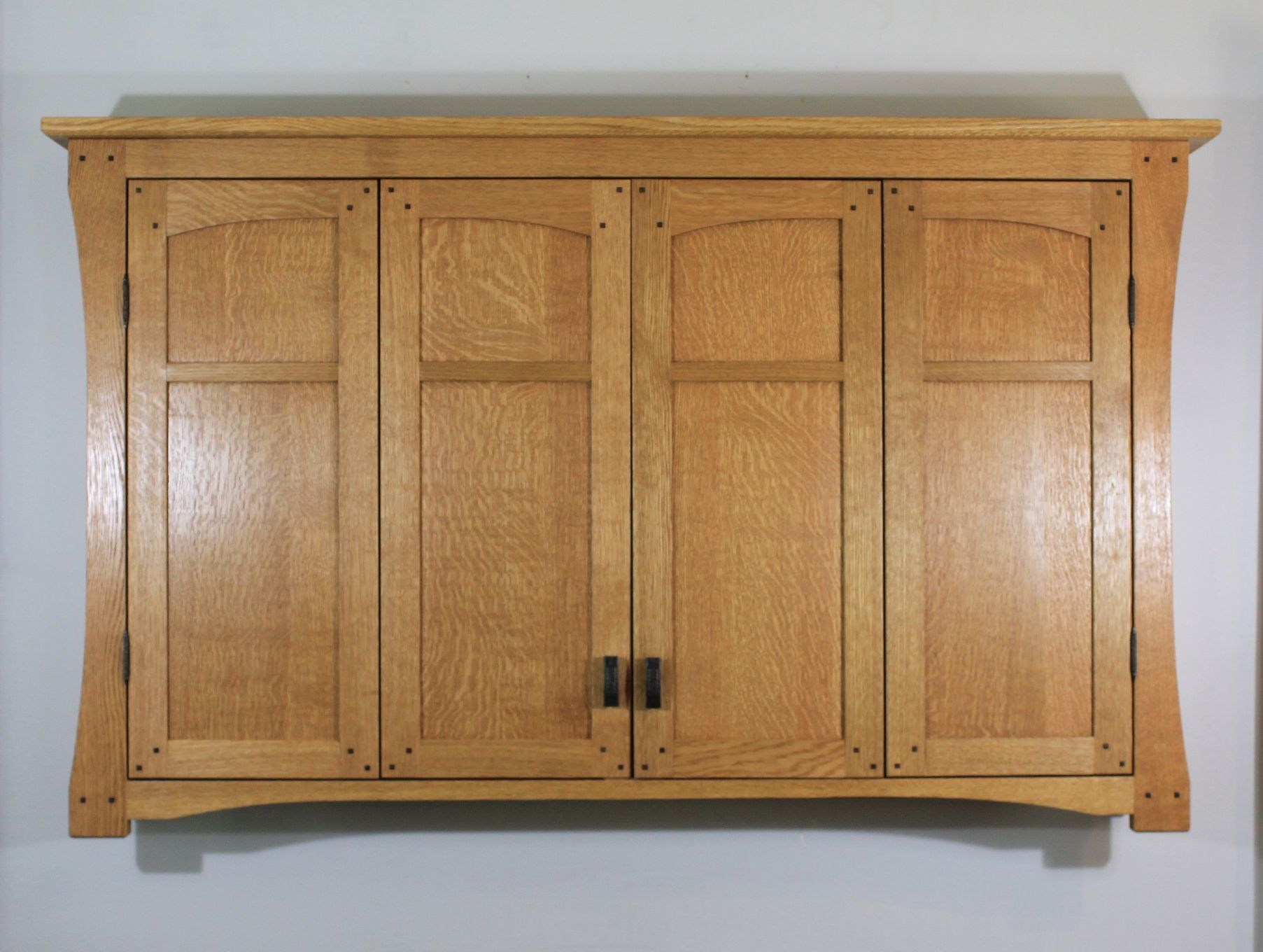 Buy a Hand Made Mission Style Tv Wall Cabinet In Solid ...
