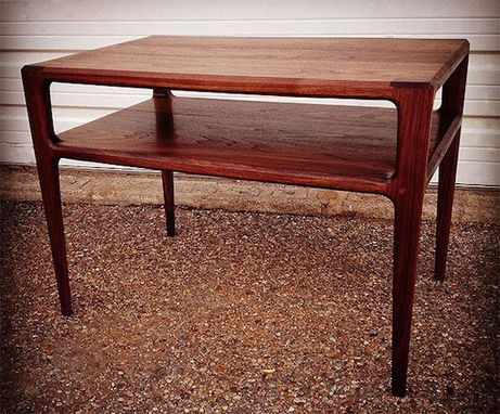 Custom Made 2-Tiered Walnut Side Table