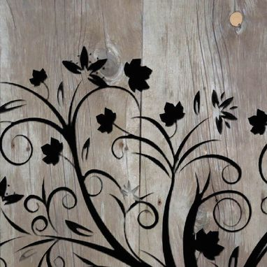"Custom Made Whimsical Tree - Reclaimed Barn Wood - Rustic Wall Art   41"" X 18"""