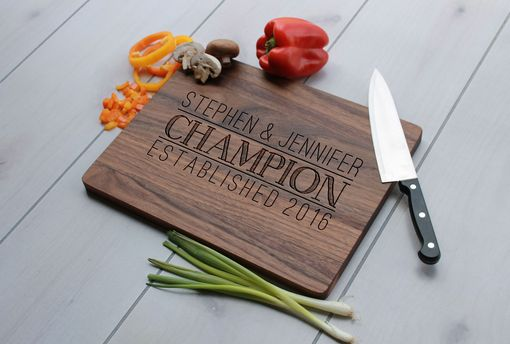 Custom Made Personalized Cutting Board, Engraved Cutting Board, Custom Wedding Gift – Cb-Wal-Champion