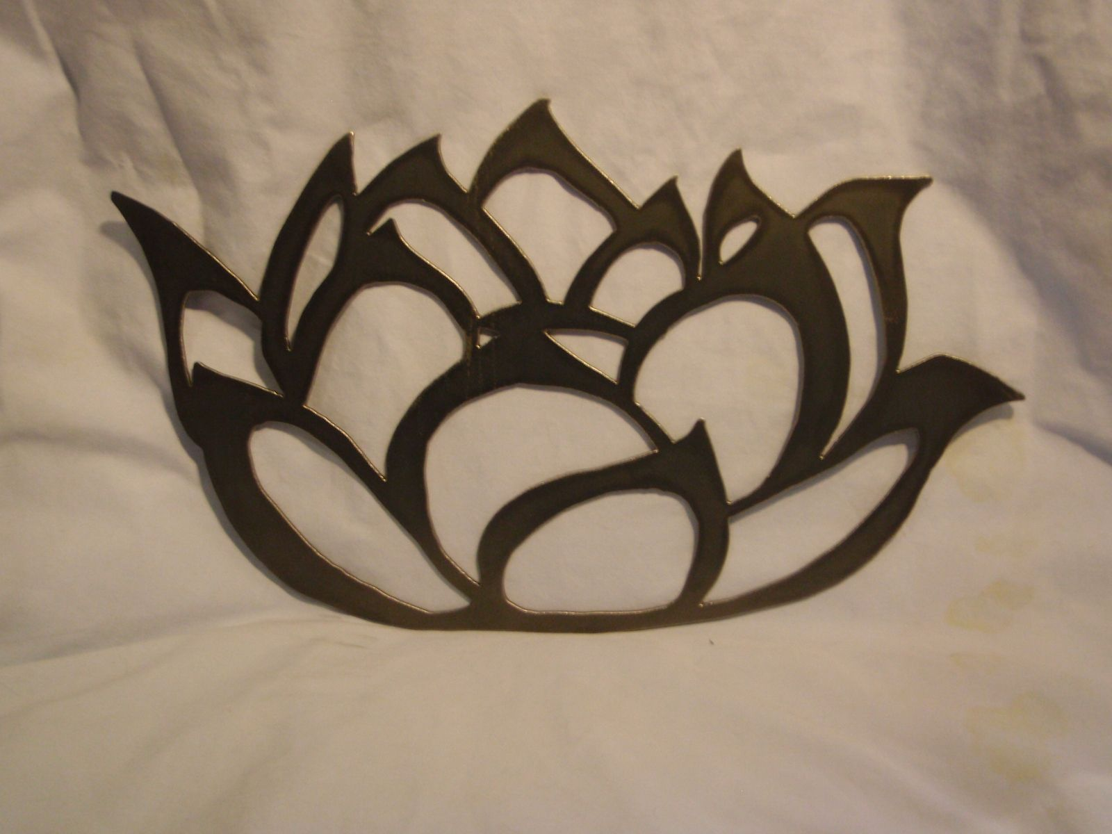 Custom Hand Drawn Lotus Flower In Metal By Jbweldz Creative Metal