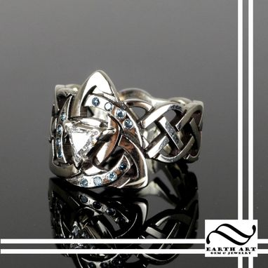 Custom Made Celtic Trinity Knot Diamond Engagement Ring