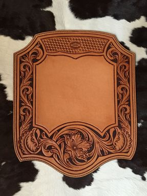 Custom Made Leather Mouse Pad - Hand Tooled