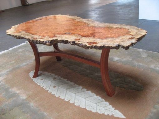 Custom Made Bubinga Burl Table