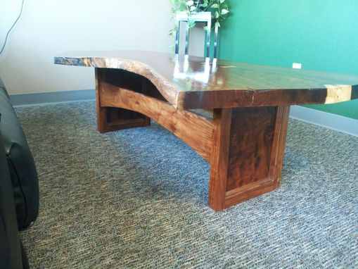 Custom Made Slab Walnut Coffee Table With Live Edge