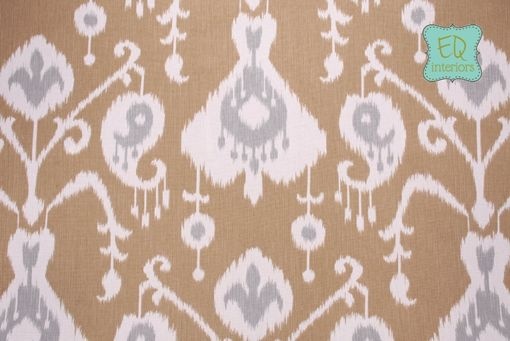 Custom Made Custom Curtain Panels Java Ikat In Umber 72l X 50w