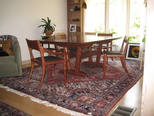 Custom Made Bubinga Dining Table And Chairs.