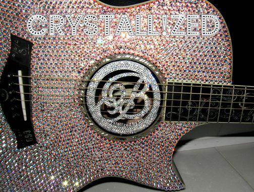 Custom Made Crystallized Custom Guitar Sound Lute Hole Cover Made With Swarovski Crystals
