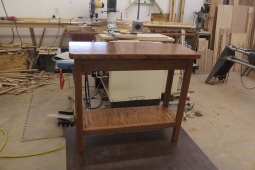 Custom Made Small Rectangular Oak End Table