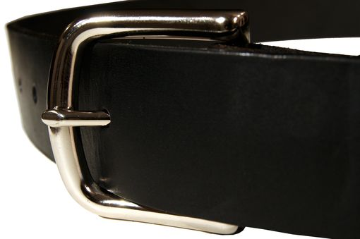 Custom Made Latigo Leather Belt - Black Or Burgundy