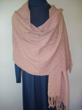 Custom Made Hand Woven Old Rose Shawl