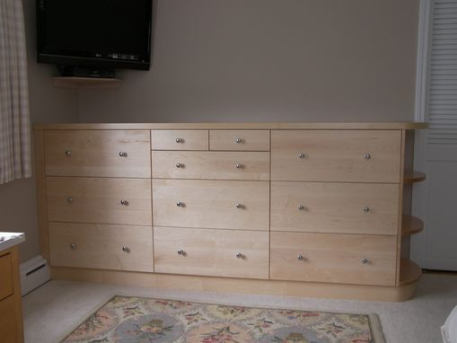 Custom Made Maple Dresser With Natural Finish
