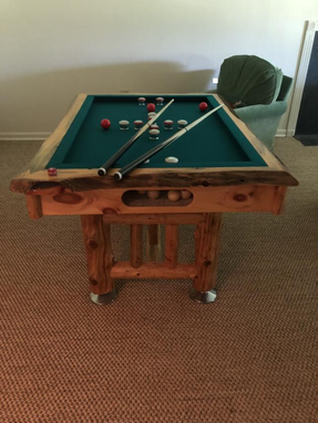 Custom Made Rustic Bumper Pool Table