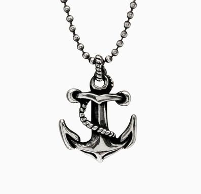 Custom Made Sterling Silver Anchor Pendant