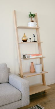 Custom Made Modern Leaning Bookcase