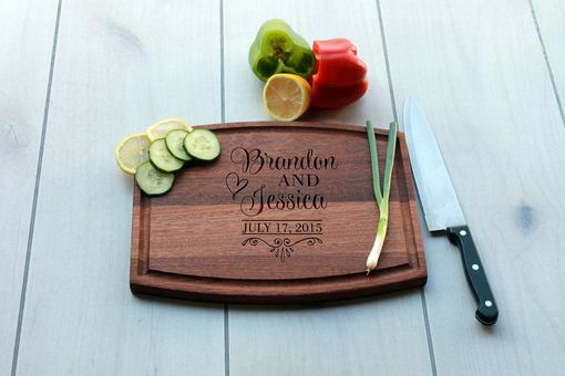 Custom Made Personalized Cutting Board, Engraved Cutting Board, Custom Wedding Gift – Cba-Mah-Brandonjessica