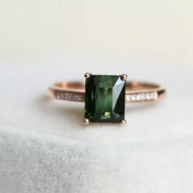 Custom Made 1.62 Carat Tourmaline Ring In 14k Rose Gold
