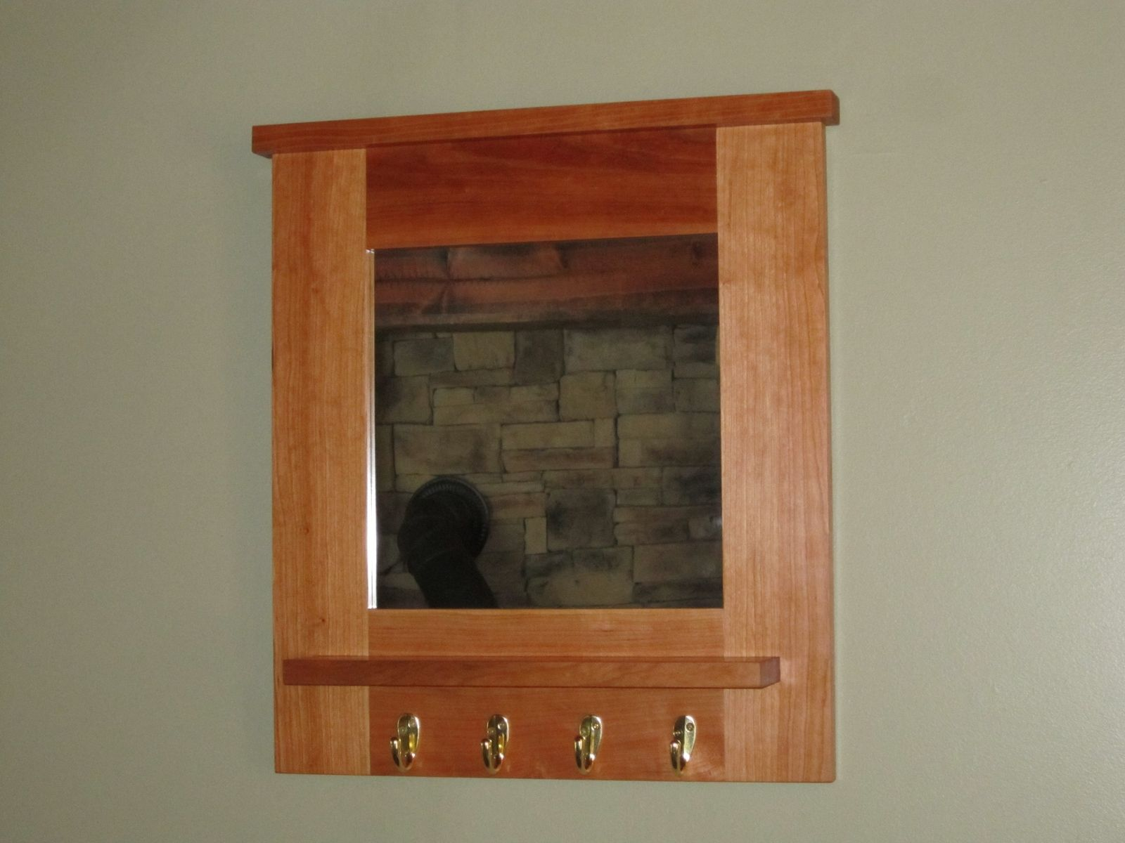 Hand Crafted Cherry Hall Mirror By Bearkat Wood