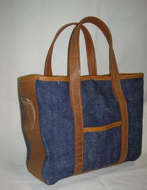 Custom Made Cane Denim Tote Bag