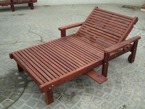 Custom Made Best Redwood Wide Sun Chaise Lounge