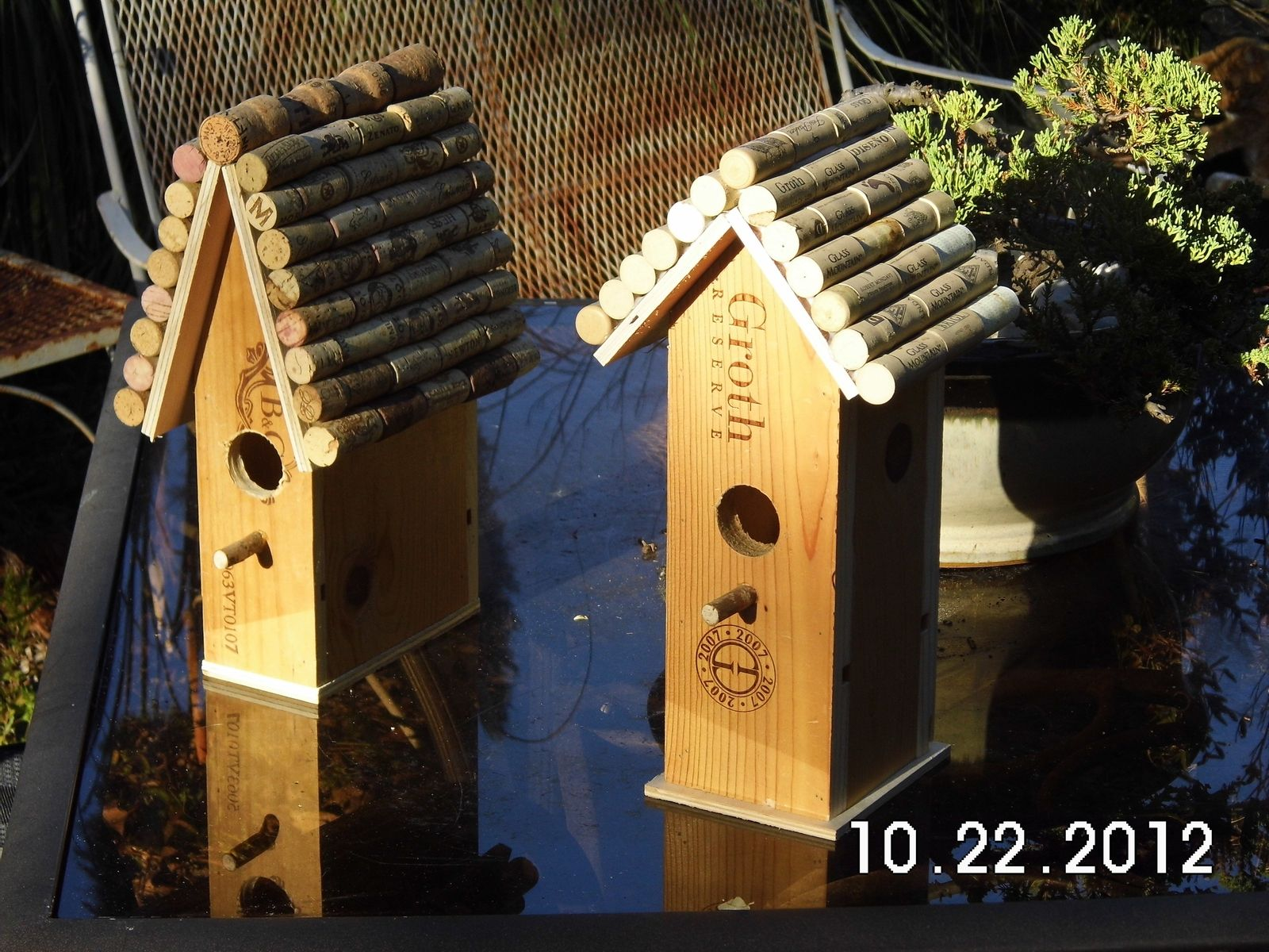 Hand Crafted Wine Box Birdhouse by Birdhouses By George ... on western house plans, cedar ridge house plan, purple martin house building plans, red-headed woodpecker house plans, cedar greenhouse plans, cedar storage plans, cedar fence plans, cedar wood, cedar table plans, bird feeder plans, cedar birdhouses and feeders, cedar lighthouse plans, cedar shelf plans, cedar bluebird house, cedar home plans, simple birdhouse plans, cedar barn plans, cedar furniture plans, cowboy cedar birdhouse plans, cedar bench plans,