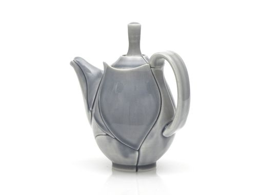 Custom Made Grey Leaf Mini Teapot