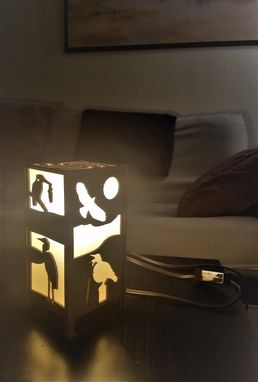 Custom Made Southwestern Birds Lamp