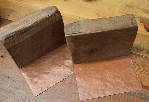 Custom Made Rustic Reclaimed Wood Bookends