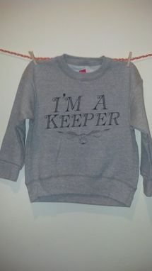 Custom Made Sale Harry Potter Inspired I'M A Keeper And Golden Snitch Shirt, Grey Child's Xs Sweatshirt (4t-5t)