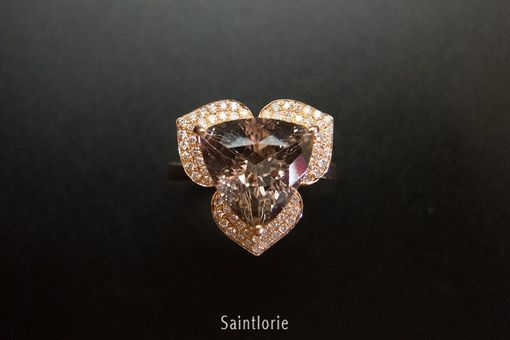 Custom Made 3.5 Carat Morganite Engagement Ring