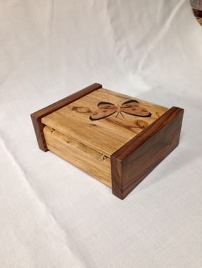 Custom Made Keepsake Box With Marquetry Butterfly Inlay