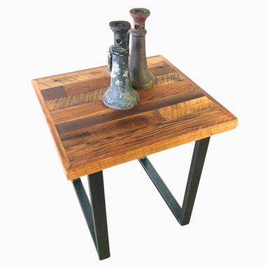 Custom Made Reclaimed Patchwork End Table