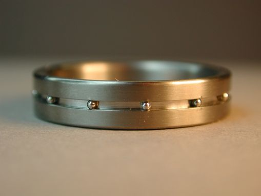 Custom Made Titanium Ring With Stainless Steel Balls