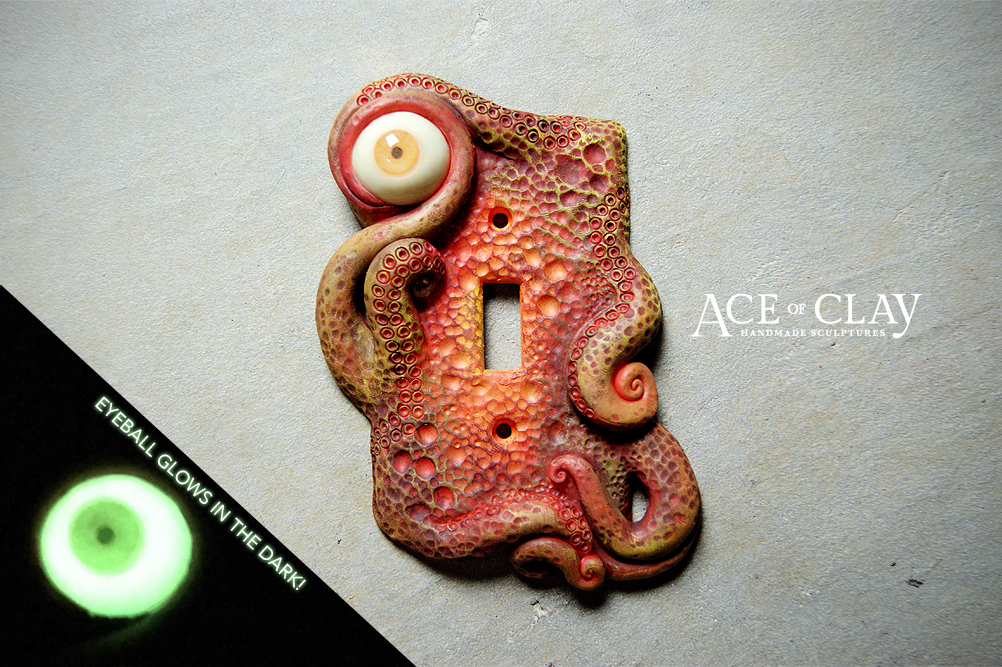 Handmade Custom Light Switch Or Outlet Cover By Ace Of Clay