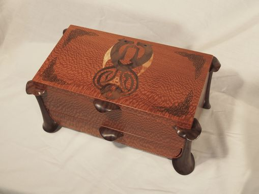 Custom Made Jewelry Box With Celtic Design