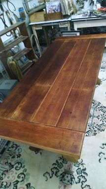 Custom Made Cross Buck Table & Benches, Choice Of Wood And Finish