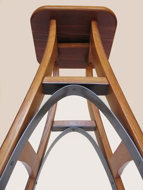 Custom Made Eiffel, Barstool Recycled Oak Wine Barrel High Stool