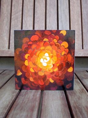 Custom Made Marigold Fine Art Print - 5x5 Mounted Print On Wood Panel