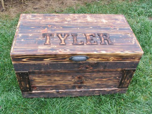 Custom Made Personalized Wood Chest Large Made From Reclaimed Wood Pallets - Hope Chest - Toy Chest