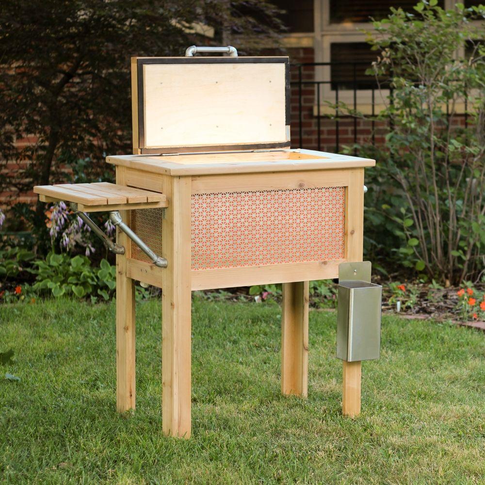 A Handmade Wooden Patio Cooler