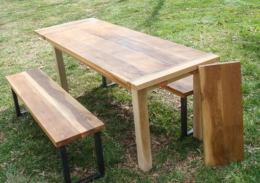 Custom Made Harvest Table And Benches With Extensions