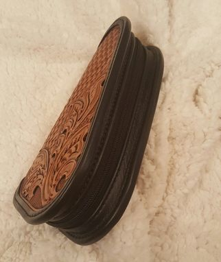 Custom Made Hand Tooled Leather Pistol Caddy (Small) (Made To Order)/Holster