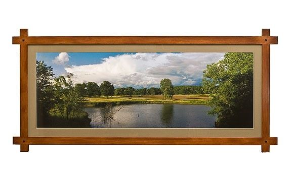 custom made picture frame adirondack style panoramic