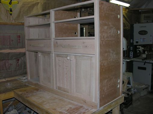 Custom Made Arts & Crafts Entertainment Center In Progress