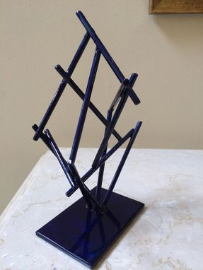 Custom Made Blue Bamboo - Maquette For Life-Size Sculpture